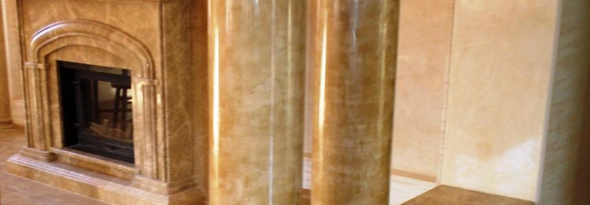 Камин и колоны